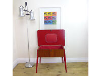 Details about Mid Century Sewing/Craft Box/Table - Industrial/Vintage - Side/Lamp/Coffee/Retro