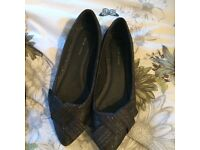 Black and Silver Newlook shoes