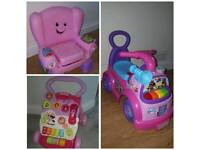 BUNDLE BARGIN - BABY WALKER, CHAIR AND RIDE ON CAR TOYS