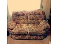 Two seater long sofa & armchair