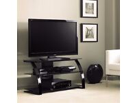 Bell'O Curved Metal and Glass TV Stand for TVs up to 46″ - new, in sealed box