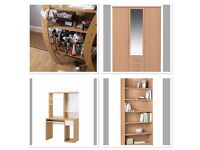 Triple wardrobe, bookcase, tv unit & desk . Complete set