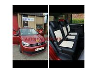LEATHER CAR SEAT COVERA TOYOTA PRIUS FORD GALAXY VOLKSWAGEN SHARAN SHARON SEAT ALHAMBRA MINICABS CAR
