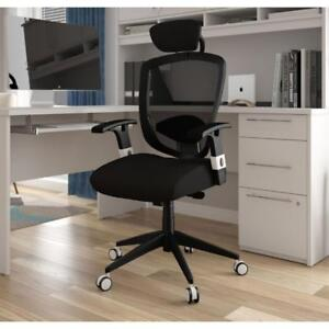 *new* Galaxy Ergonomic High-Back Executive Chair With Head Rest - Black