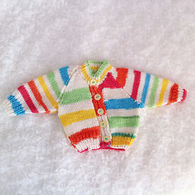 HAND KNITTED NEWBORN CARDIGANS