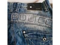 Men police jeans