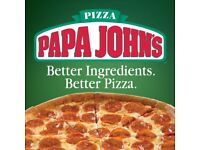 Delivery Driver For Papa Johns Pizza