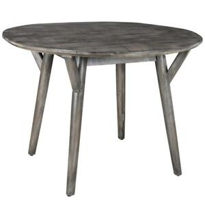 Distressed Grey Round Dining Table Sale-WO 7712 (BD-2609)