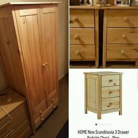 Scandinavian Pine Bedroom set