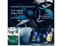 Mobile Valeting/detailing valets from £20 free fog-it!