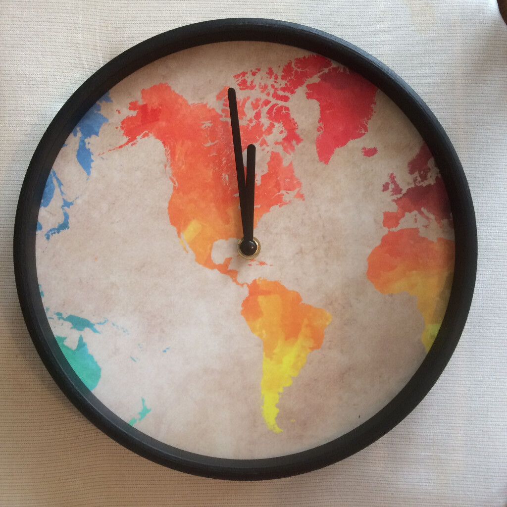 Clock with world map in albany road cardiff gumtree clock with world map gumiabroncs Gallery