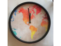 Clock in cardiff mirrors clocks ornaments for sale gumtree clock with world map gumiabroncs Image collections
