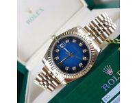 New Mens bagged gold jubilee Bracelet blue fade dial automatic sweeping Rolex datejust watch diamond