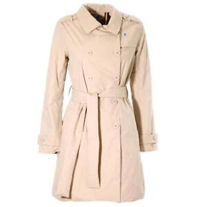 K-Way Women Trench coat Desiree Ripstop Marmotta K007F50 931 (Size 8 / Beige-Grey A) - Slim Fit