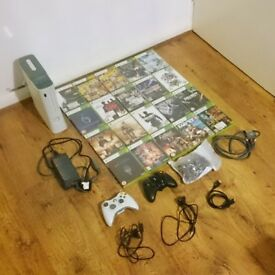 Xbox 360 HDMI version Jasper - 3 controllers (one never used) - 20 games