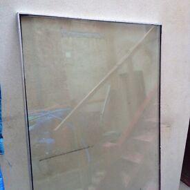 Large double glazed unit.