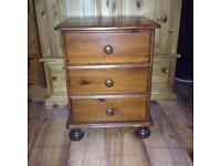 wooden 3 draws