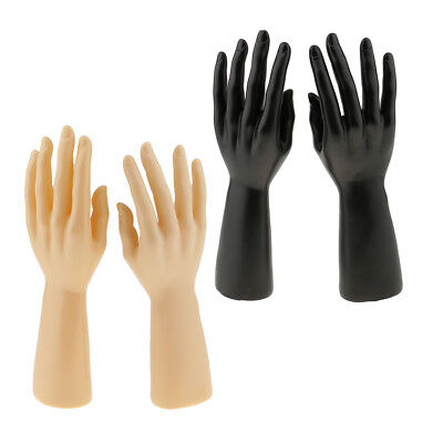 2 Pair Of Male Mannequin Hand For Jewelry Bracelet Gloves Display Right Left