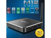 KODI M12 4K Quadcore Android Media Streaming TV Box Sports/Movies/TV *Free UK Next Day Delivery*