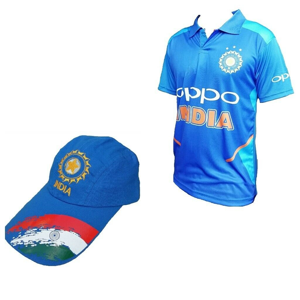 ecfdac87e India Cricket Jersey Cap 2019 World cup bundle Brand new