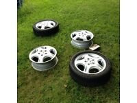 "15"" geniune Mercedes A-Class alloy wheels in need of some refurbishment"