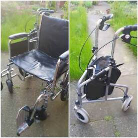 Wheelchare and walk support rarely used.