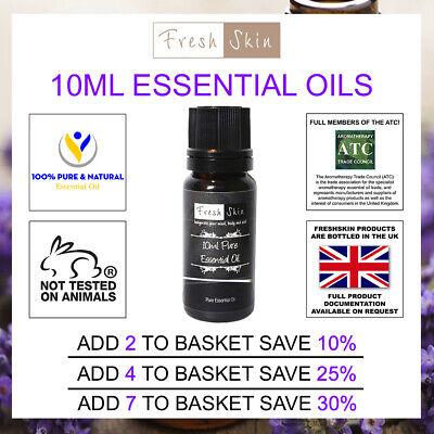 10ml Essential Oils - 100% Pure Natural Essential Oil - Aromatherapy - Freshskin