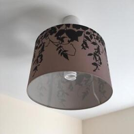 Brown and Black leaves design lampshade
