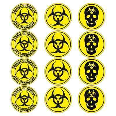 Bio-Hazard Warnung Zombie Aufkleber Satz Gelb Schwarz Biohazard - Zombie Auto Zubehör