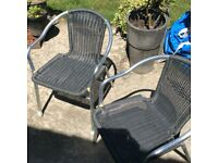 2x Garden patio chairs