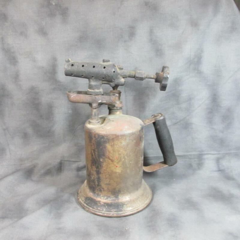 Antique Clayton & Lambert Brass Blow Torch, Impressed C&L Shield on Front