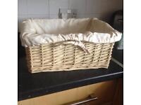 Wicker storage basket SOLD