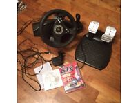 Thrustmaster Rallye GT RGT Force Feedback Pro Steering Racing Wheel & Pedals w/ Gear Stick for PC