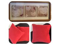 Cushion and picture set