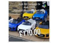Latest Offer On Audi TTRS Or Audi R8 Compact, Various Colour Available, Only £110,