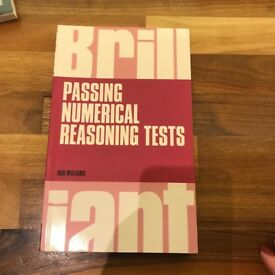 Passing numerical reasoning tests