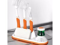 Beldray All-In-One Brush Set Featuring 5 Piece Cleaning Brush Set with Tidy Stand - Brand New in Box