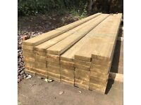 "7 x 2"" Timber tanalised - 4.8m long - In stock"