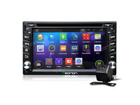 "UK Eonon Quad Core Android HD Car Stereo DVD GPS SAT NAV Radio 6.2"" 2 DIN+CAM"