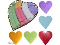 Box Of 100x Heart Shaped Guest Soaps - 8 Different Fragrances