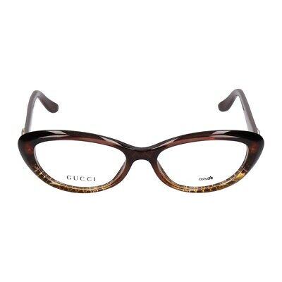 Gucci Damen Brillengestell GG3566 W9B braun, gold