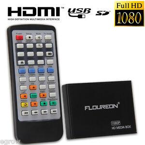 Mini Full 1080P Multi Media Player SD/MMC MKV Für 2TB External Hard Drive USB SD