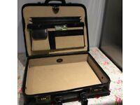 Extra wide leather briefcase/overnightcase