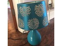 Teal side lamp