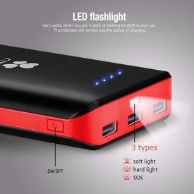 EC Technology 22400mAh Power Bank Ultra High Capacity External Battery 3 USB Output External Battery