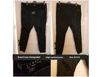 Brand new missguided high waisted jeans