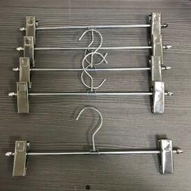 100 X Metal Clip Coat Hangers Clothes 31CM £30