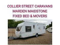2006 Dethleffs camper dl 550 + movers 4 berth Fixedbed caravan