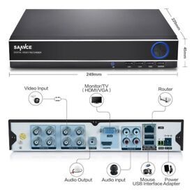 SANNCE Surveillance 8CH 1080N 5IN1 DVR Security CCTV Camera System Motion P2P UK