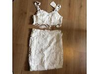Sexy white net skirt and top Size M 8-10